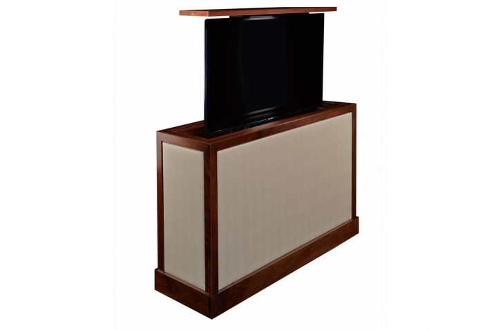 Tv cabinets with lift sorrento transitional tv cabinet - Retractable tv cabinet living room furniture ...