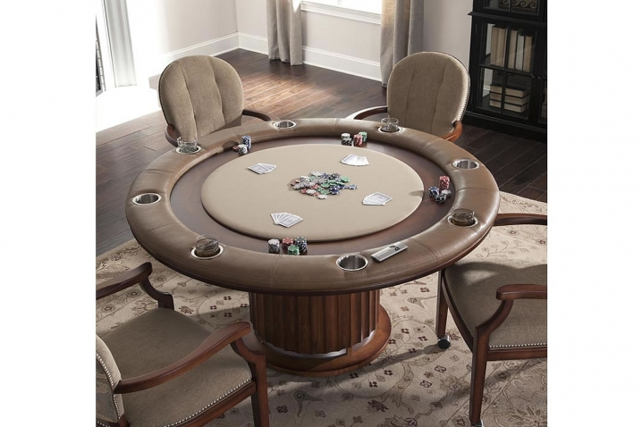 Custom poker tables poker table with hidden bar for Tv in furniture hidden