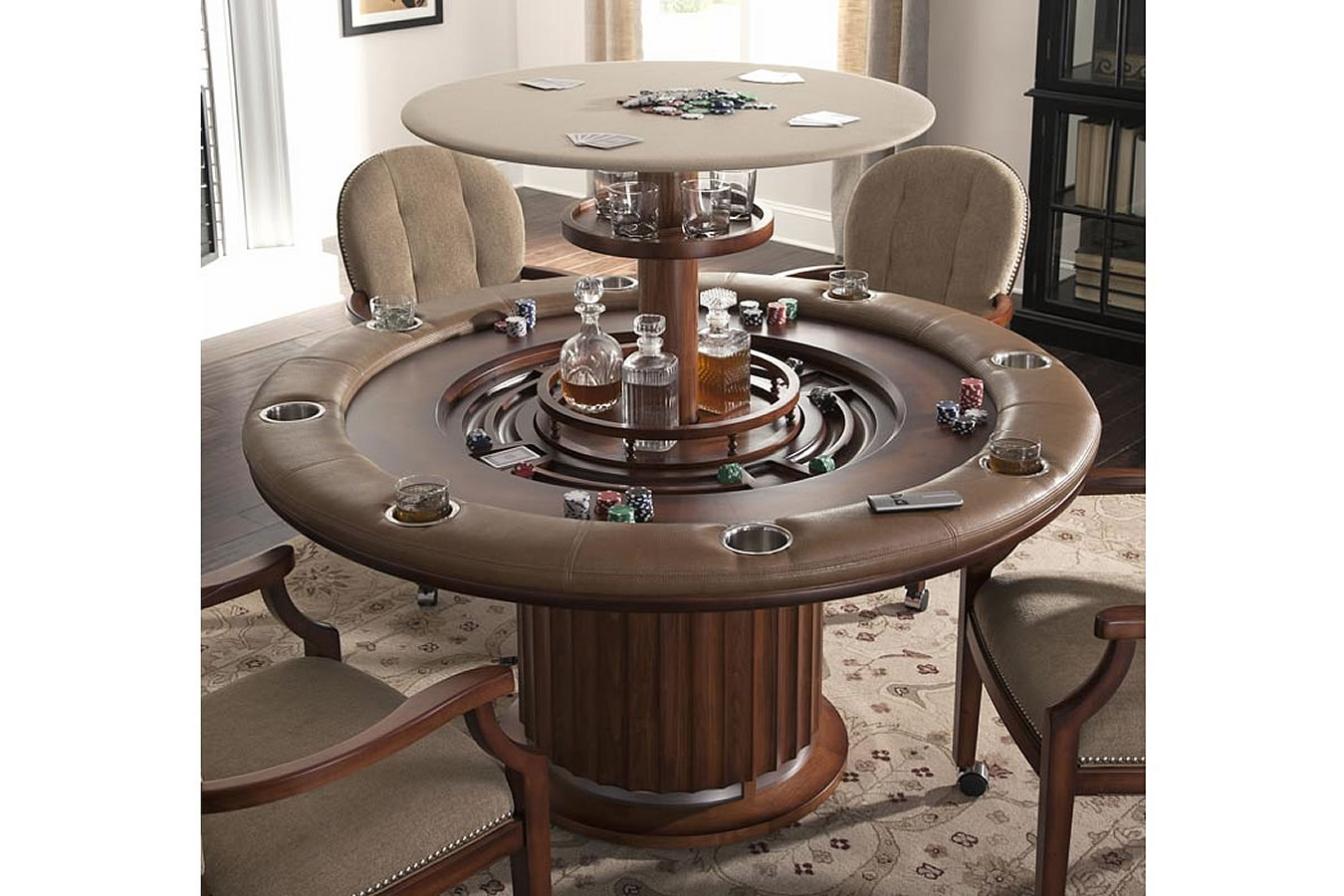 Custom Poker Tables Poker Table With Hidden Bar
