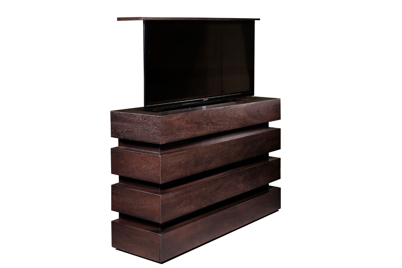 interior designer espresso tv lift cabinet furniture is us made and comes in 13 different finishes