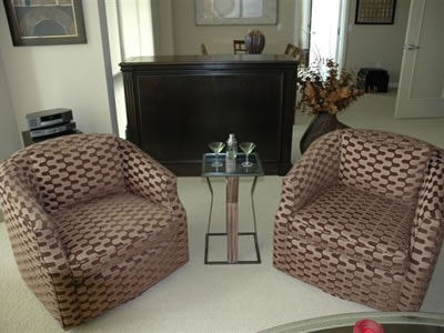 Transitional Furniture Used As Room Divider To Hide And
