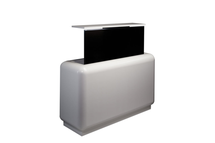 Rounded Dolly Customizable Furniture With Tv Lift Cabinet Tronix
