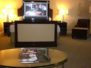 foot of bed Television in Fairmont
