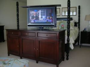 Greenwich custom traditional furniture with TV lift kit