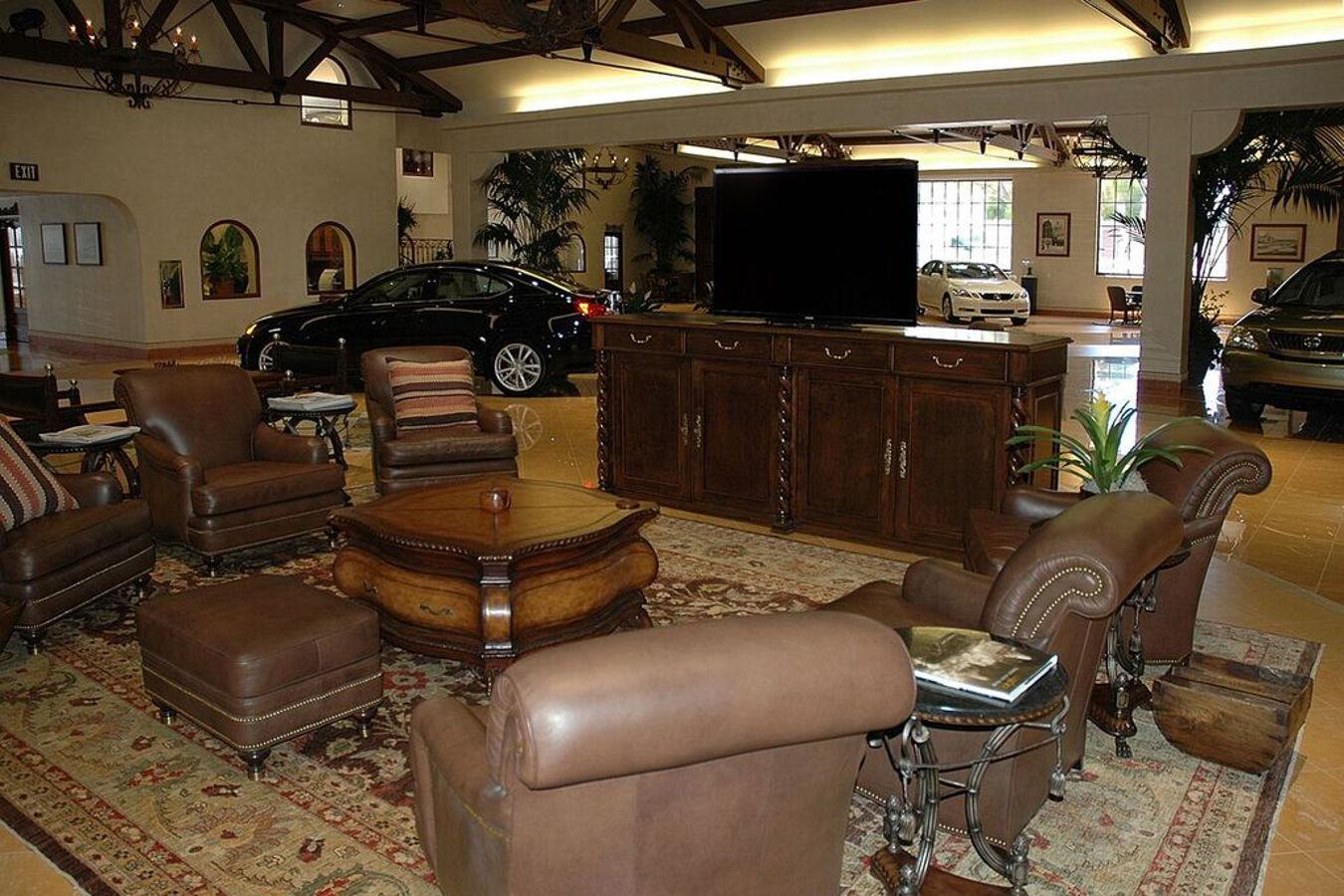 Lexus showroom with Cabinet Tronix TV lift furniture