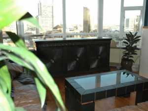 maximus 3 door hand carved furniture hides TV to save view