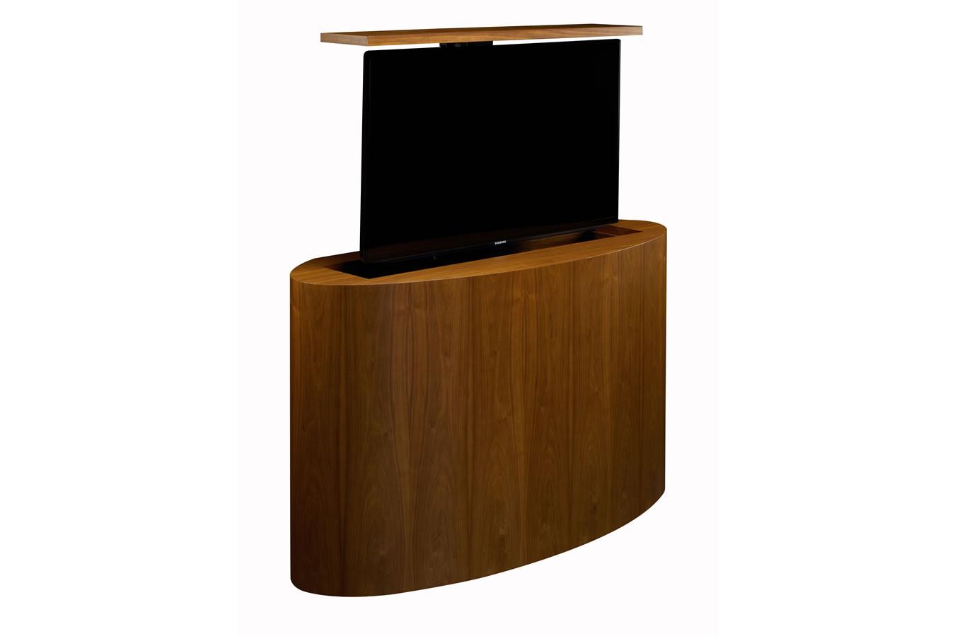 malibu rounded modern tv lift furniture cabinet tronix. Black Bedroom Furniture Sets. Home Design Ideas