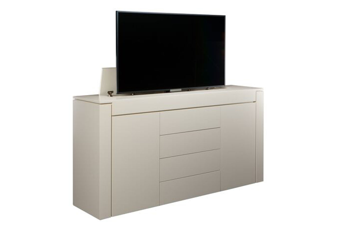 modern buffet in white modern buffet in white custom modern motorized tv lift cabinet - Tv Lift Cabinet